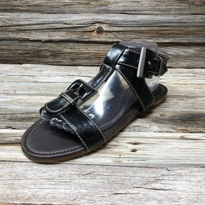 NWOT Wanted Cool Sandals Black Buckle Sandals